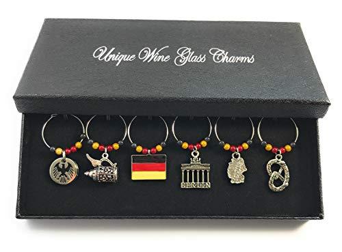 Libby's Market Place Deutschland-Weinglasanhänger mit Geschenkbox