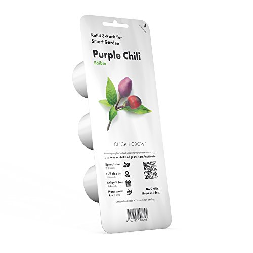 Click & Grow Smart Garden Purple Chili Pepper Plant Pods 3 Pack