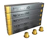 Nespresso Espresso Volluto, Pack of 5, 5 x 10 Capsules