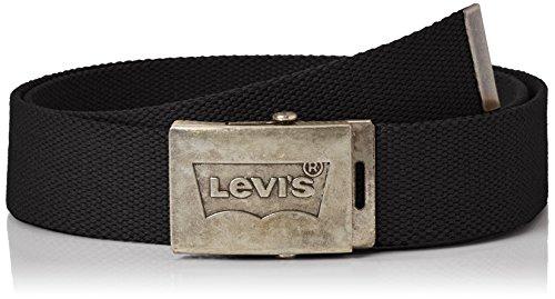Levi's Batwing Web Belt Cintura, Nero (Noir Regular Black), 110 (Taglia Produttore: ADJ11) Uomo
