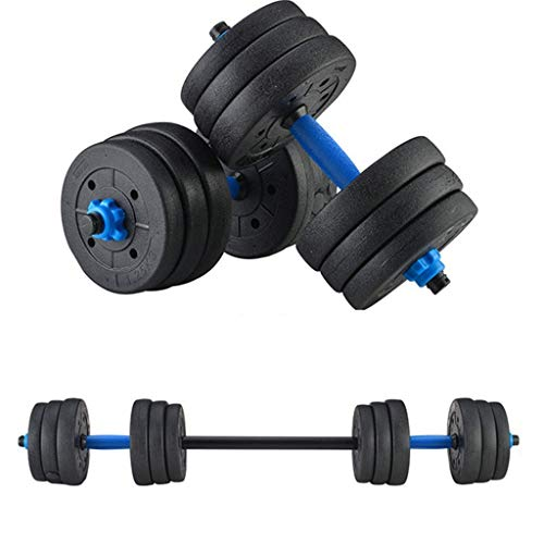 DOYCE Adjustable Weights Dumbbells Set,Free Weights Dumbbells Set for Men and Women with Connecting Rod Can Be Used As Barbell for Home Gym Work Out Training 2Pair(44 Pounds)