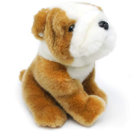 Everett The English Bulldog - 6 Inch Stuffed Animal Plush - by Tiger Tale Toys