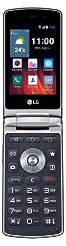 LG WineSmart klappbares Smartphone (8,2 cm (3,2 Zoll) LCD Display, 1,1 GHz Quad-Core-Prozessor, 3 Megapixel Kamera, Android 5.1) blau
