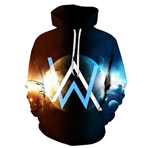 2020 European Style Sweatshirt Mode Alan Walker Hoodies Herren Stilvolle Allen Walker 3D Digital Printed Hooded Off White Hoodie-Afkh3426_S
