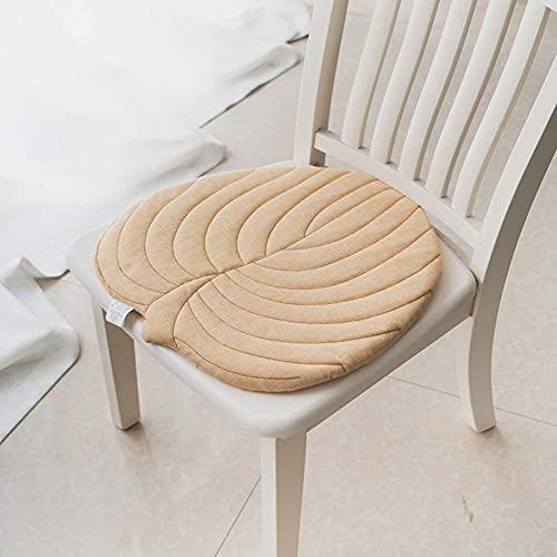 erddcbb Cojines de Silla Antideslizantes de Hoja, cojín de Asiento de Estilo japonés Algodón y Lino Cojines para sillas de Comedor al Aire Libre y Interiores de Oficina Transpirables encantadores-BR