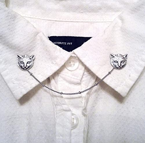 MEOW excellence Kitty Cat Max 57% OFF Collar Pins Chain Sweater Clips