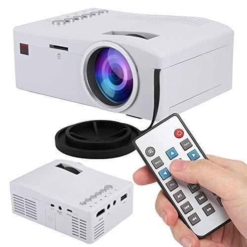 ASHATA Mini Beamer, draagbare videoprojector, 1080P, Full HD LED-projector met USB, TF, AV, HDMI, IR-ingang, mini thuisbioscoop, TFT-LCD-projector voor thuis/outdoor, EU.