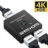 HDMI 切替器 DEEPTEK 1080P/2K/4K HDMI分配器/セレクター 2入力1出力 3D視覚効果抜群 電源不要 Xbox/HDTV/Blu-Ray player/DVR/ PS4/DVD/Nintendo Switch 液晶テレビ対応