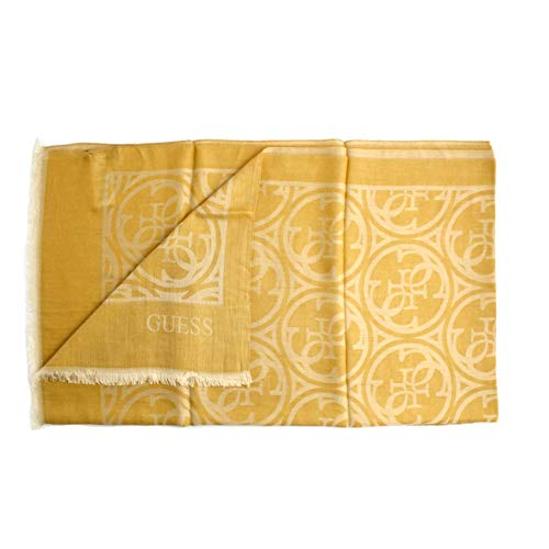 Guess Foulard donna fantasia logo giallo e oro. Composizione: 54% poliestere 46% modal. PRODOTTO MADE IN ITALY. AW8054MOD03MGD