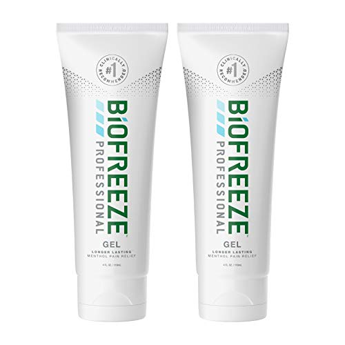 Biofreeze Professional Pain Relief Gel, 4 oz. Tube, Green, Pack of 2