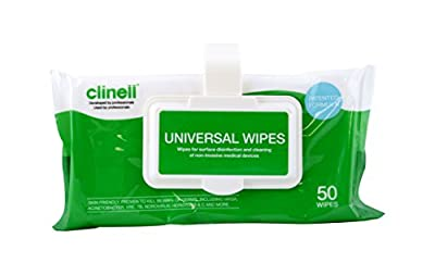 Clinell Universal Wipes - Case of 24 clip packs of 50 wipes from GAMA Healthcare