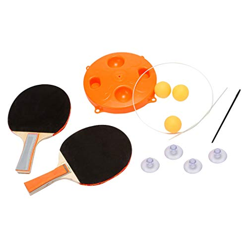 Review GODET Table Tennis Sets Ping Pong Paddles and Balls Set, Table Tennis Training Fixed Fast Reb...