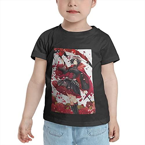 RWBY Ruby Rose Anime Kids T-Shirt Crew Neck Short Sleeves Cotton Cool T Shirts 4T