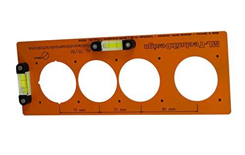 Bohrschablone für Hohlwanddosen aus Aluminium Schalterdosen Steckdosen