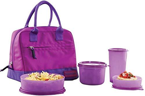 tupperware. Plastic Classic 4 Containers Lunch Box Set (1580 ml, Multicolour)