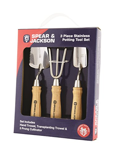 Spear & Jackson potting3ps Eintopfen Werkzeug Set–Silber (3-teilig)