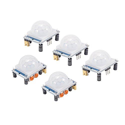 Sun3 HC-SR501 PIR Sensor de movimiento para Arduino, Raspberry Pi (5 unidades)