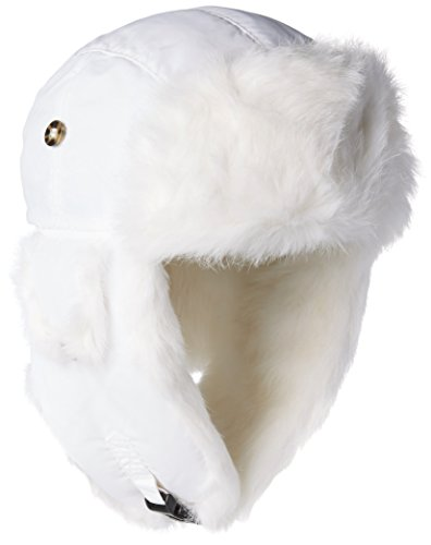 Mad Bomber Original White Pilot Aviator Hat Real Rabbit Fur Trapper Hunting Cap, XX-Large