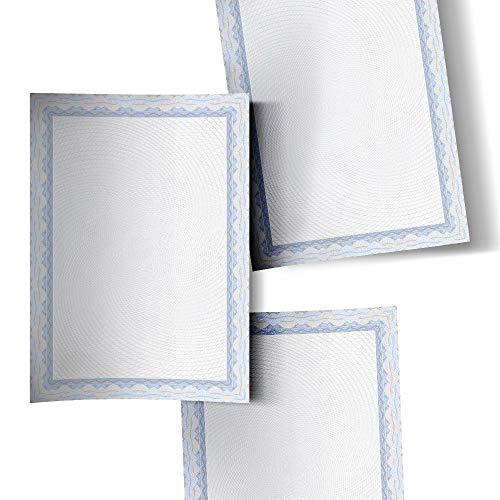 Decadry A4 Certificaat Papier Blauw Pack van 50