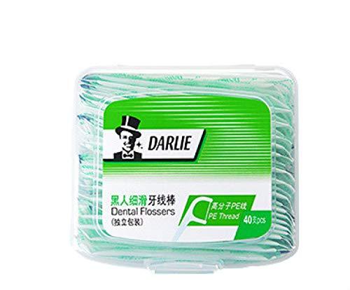 Yunduo schlankes Zahnseiden-Stick, Familienpackung, einzeln verpackt, ultrafeine Zahnstocherseide, Zahnseidenbox, tragbar (40 x 3 Boxen)