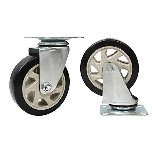 AJZGF Lenkrollen Wheel Fußrollen, um 360 ° drehende Gießmaschine, Polyaminosäuren Mute Rolle, schwere Industrie Rollen Rollen Office Chair Caster Wheels