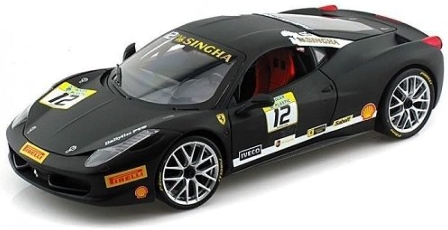Hotwheels Heritage 1 18 Collection Ferrari 458 Challenge Die Cast Model (Black)
