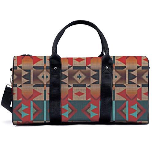 Bolsa de deporte para gimnasio, estilo indio, tribal, estilo rústico, con diseño de cabina de yoga, bolsa de hombro, bolsa de viaje, bolsa de viaje para hombres y mujeres