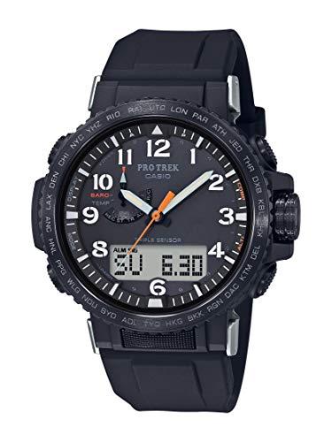 Casio Pro Trek PRW-50Y-1ACR Montre à quartz en acier inoxydable avec bracelet en silicone Noir 22