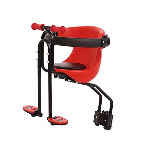A.K.B. Kinderfahrradsitz, Mountainbike-Kindersitz, tragbarer Abnehmbarer ultraleichter Kinderfahrrad-Kindersitz mit Handlauf-Fußstütze für die Rückenlehne