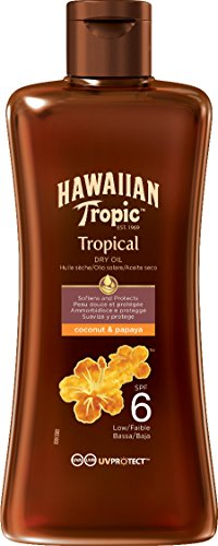 Hawaiian Tropic Protective Dry Oil Sonnenöl LSF 6, 200 ml, 1 St
