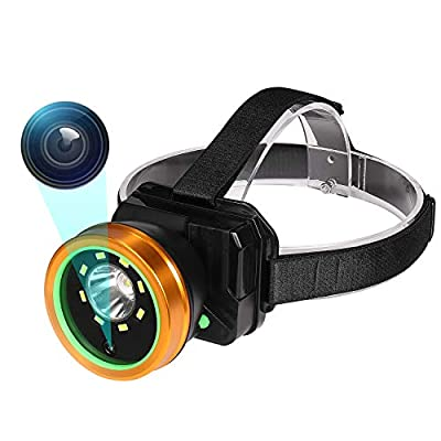 Headlamp Body Camera, 1080P Wearable Body Mounted Camera Rechargeable IPX4 Waterproof vlogging camera, Tiltable Police camera for indoor, outdoor, Camping, Hiking, Fishing with Night Vision. from KSADBOSSBO
