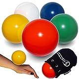 Flames N Games - Pelota de Contacto + Bolsa de Ante para Todas Las capacidades, diseño de Llamas y Juegos Disponible en 3 tamaños y 5 Colores. (Verde, 80 mm)