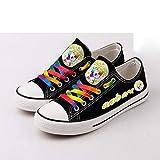 Sallypan Chaussures de Toile des Femmes, Licorne Mignonne Mesdames Low Top Rainbow Lace Up Flat Gym Chaussures Sneakers Trainer Toile Baseball Shoes Formateurs,B,40