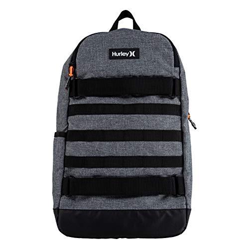 Hurley Boys' Icon Backpack, Grey/Black, L