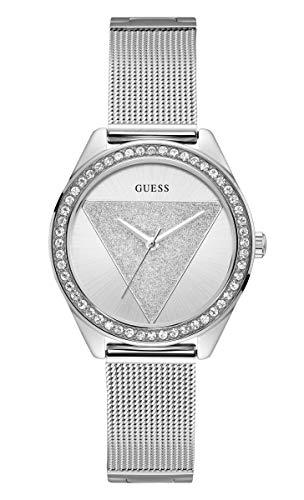 Guess Damen Analog Quarz Uhr mit Edelstahl Armband W1142L1