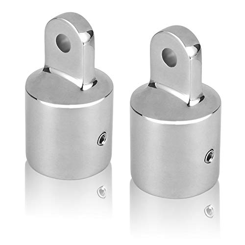 Acelane 2 PCS Bimini Top Cap External Eye End Boat Fittings Stainless Steel Marine Hardware, Fits 7/8 inches OD Round…
