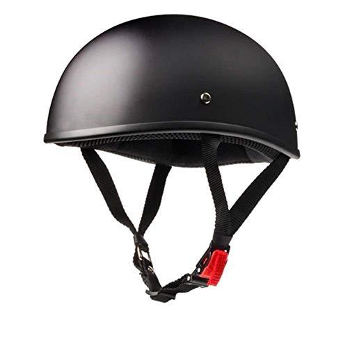 GUANG Halber Gesichts-Motorrad-Sturzhelm-Halbhelm Moto de cara abierta para Cafe Racer Chopper Scooter Motocrosshelme (color: 1, talla: S), talla: XXL, Farbe:2 Banghai (color: 2)