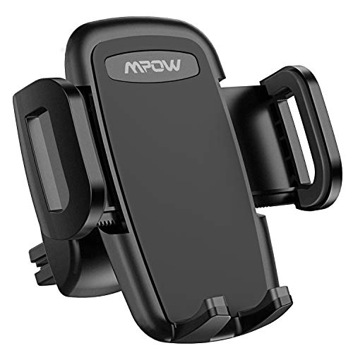 Mpow Car Phone Mount, Air Vent Phone Holder, 3-Level Adjustable Clip, Upgrade Clamp Arm, One Button Release Clamp, Rotatable Phone Mount Compatible iPhone 11 Pro Max XS XR X 8 7 6Plus Etc