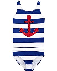 Sequin Anchor Two-Piece Swimwear