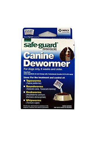 Safe-Guard Canine Dewormer For Dogs Only, 6 Weeks and Older, 9 Pouches Total(3 Packages with 3 Pouches each)