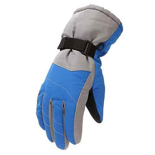 dkjawjcn Kinder Skihandschuhe wasserdichte und Winddichte Schneehandschuhe Warme Handschuhe Winterhandschuhe für 6-11 Jahre Jungen Mädchen Skifahren Wandern Radfahren (T-Blau, Einheitsgröße)
