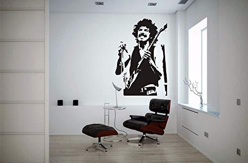 Muursticker Decal Vinyl Muziek Notities Dans Rock Roll Klassieke Gitaar Santana
