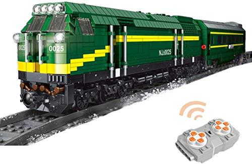 Technic Train Rail 2086 Piezas Technic Tren De Pasajeros Tren Technic a Control Remoto con Motor, Mando a Distancia Y Juego De Luces Compatible con Lego Technic