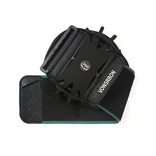 MY99 USHOMI Pulsera de teléfono Movimiento de rotación no desmontable Correa de brazo al aire libre Running Driving Ciclismo Equipo Azul