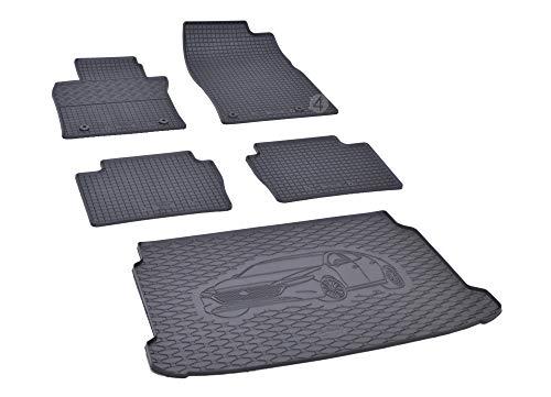 Passgenaue Kofferraumwanne und Gummifußmatten geeignet für Mazda 3 Hatchback ab 2019 + Autoschoner MONTEUR