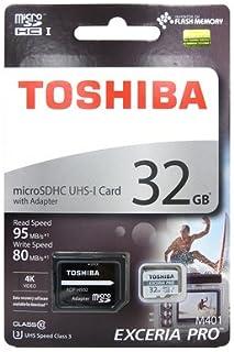 Toshiba Micro SD Memory Card 32GB EXCERIA PRO M401 microSDXC UHS-I U3 Card Class 10 microSD Memory Card with Adapter 95MB/...