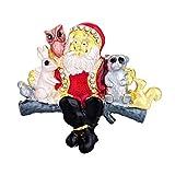 Amosfun Broche de Papá Noel con forma de animal, para Año Nuevo, regalo de Navidad