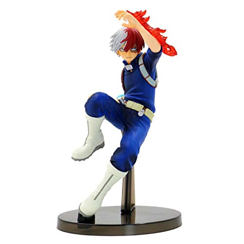My Hero Academia Deku/Bakugou Katsuki/Todoroki Shoto Figura de Acción Modelo de Escena de Lucha de Personaje de Anime Japonés Juguete Muñeco Adorno para Decoración Colección Regalo