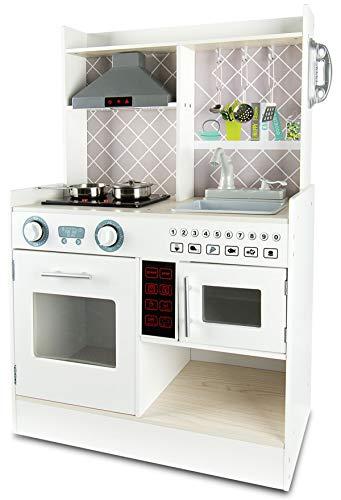 Leomark Cucina per Bambini Gioco in Legno Funzionale con Accessori Electric Kitchen