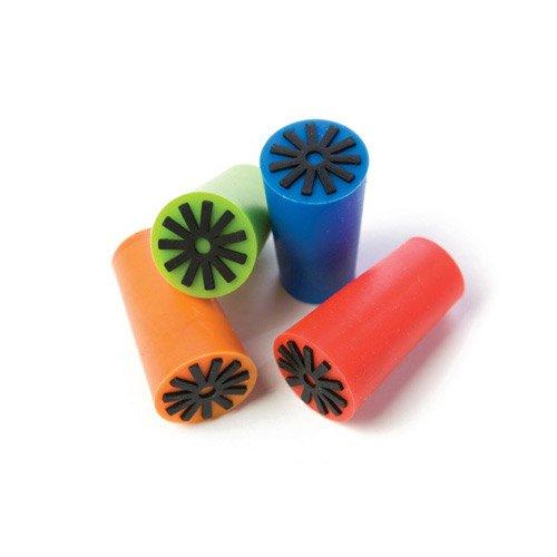 True Fabrications - Corchos de vino de silicona brillante, sintético, Multicolor, 4 Cones